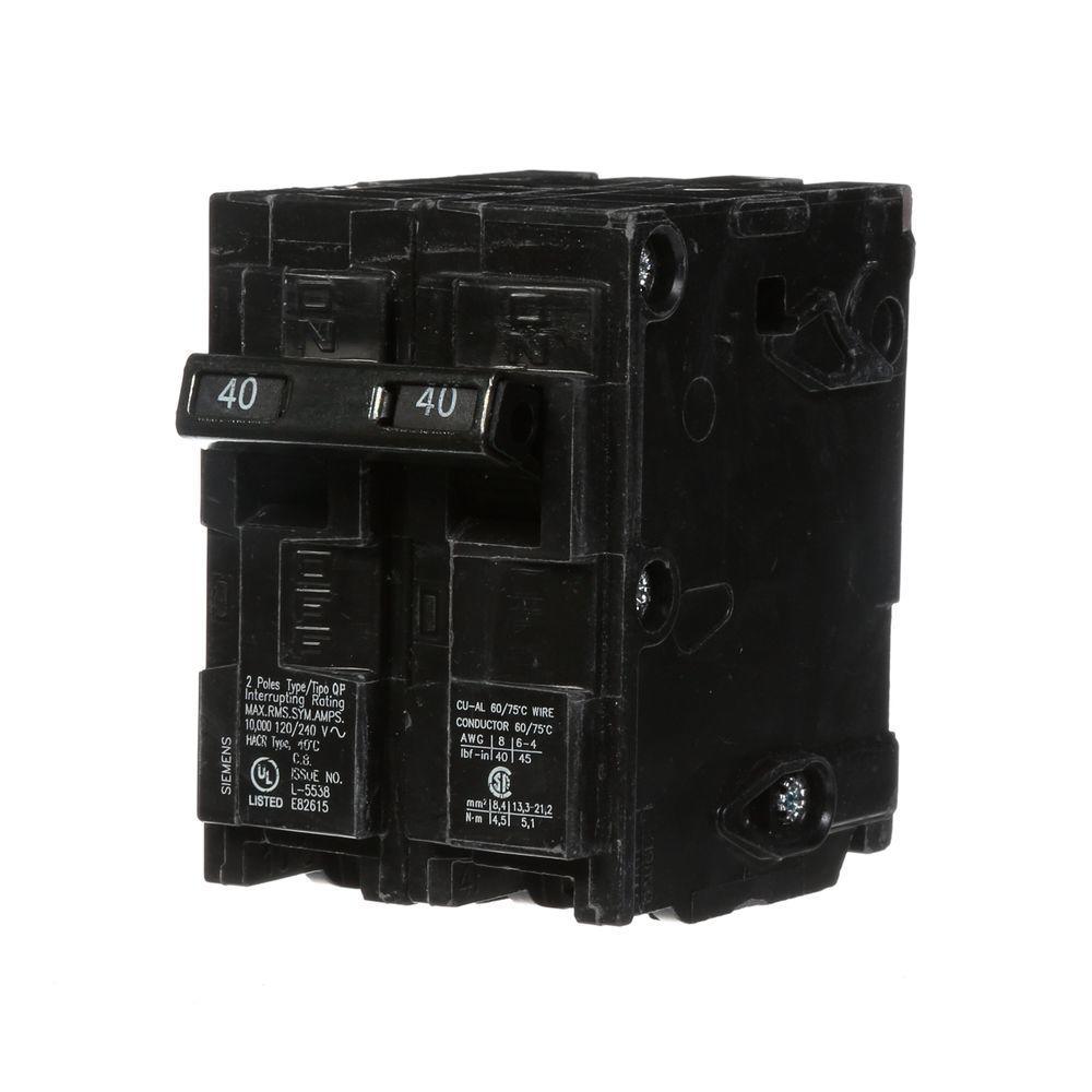 40 Amp Double-Pole Type QP Circuit Breaker