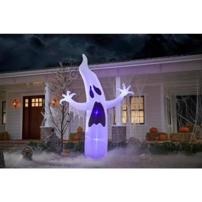 12 ft. Short Circuit Ghost Halloween Inflatable with Lightshow
