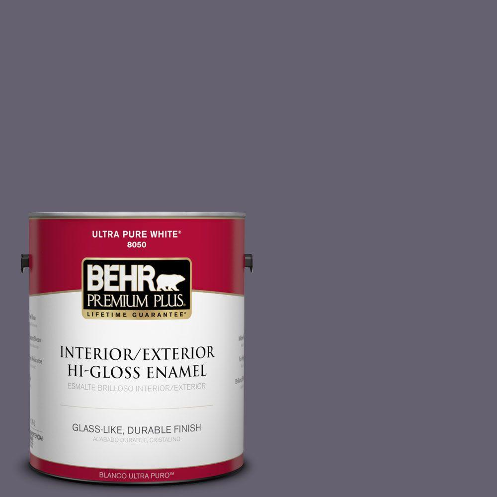 BEHR Premium Plus 1-gal. #N560-6 Fashionista Hi-Gloss Enamel Interior/Exterior Paint