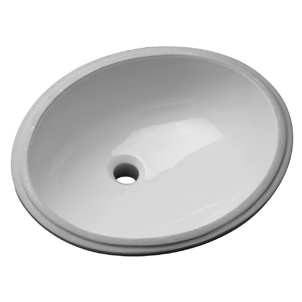 Zurn Undermount Bathroom Sink in White