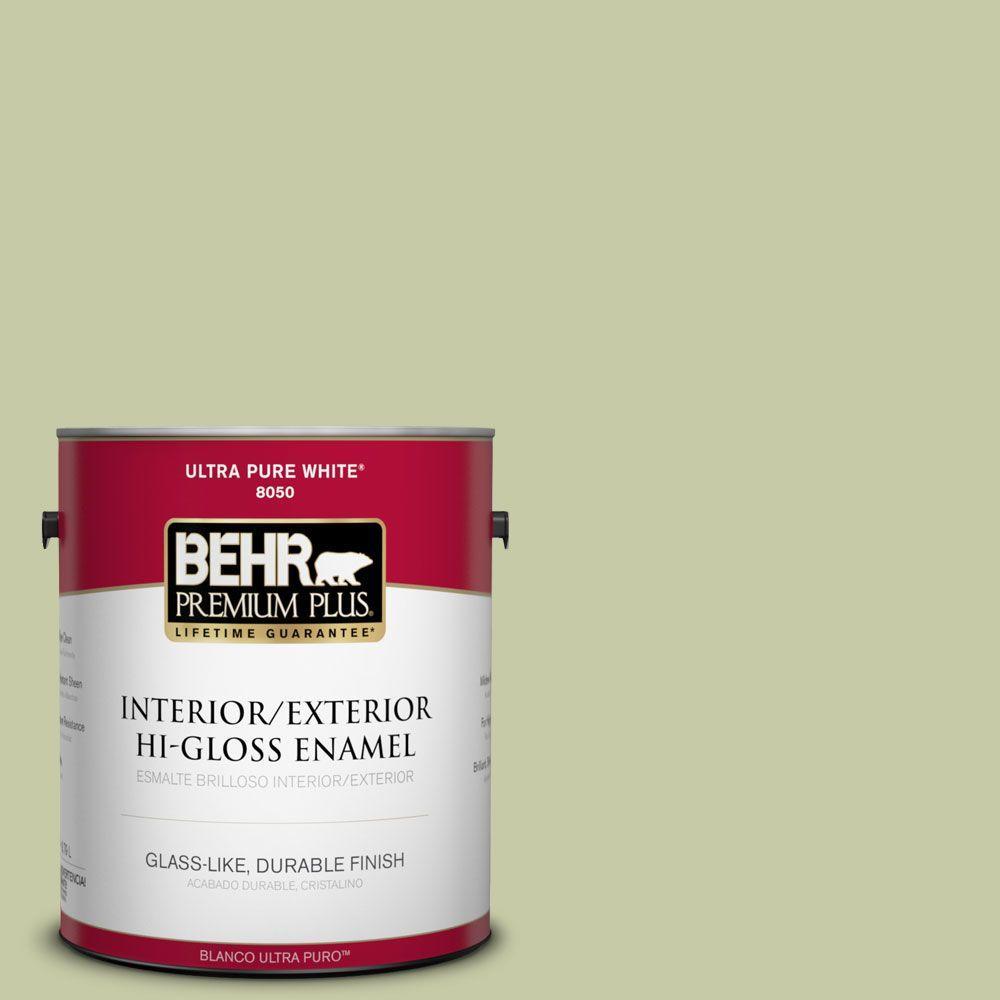 1-gal. #M350-3 Sap Green Hi-Gloss Enamel Interior/Exterior Paint