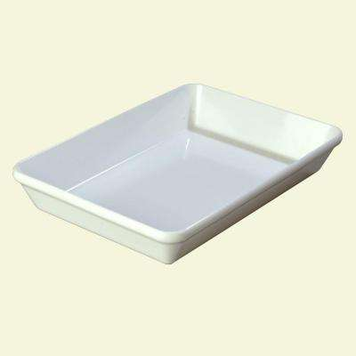 4 qt., 10 in. x 14 in. Melamine Baker Style Serving Dish in White (Case of 4)