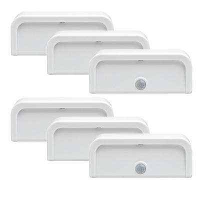Mini Stick Anywhere Motion Activated LED Night Light (6-Pack)