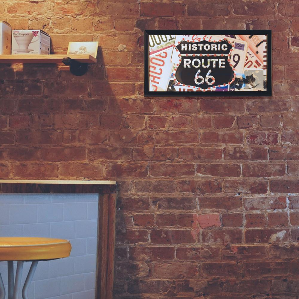Historic Route 66 Framed Marquee LED Sign