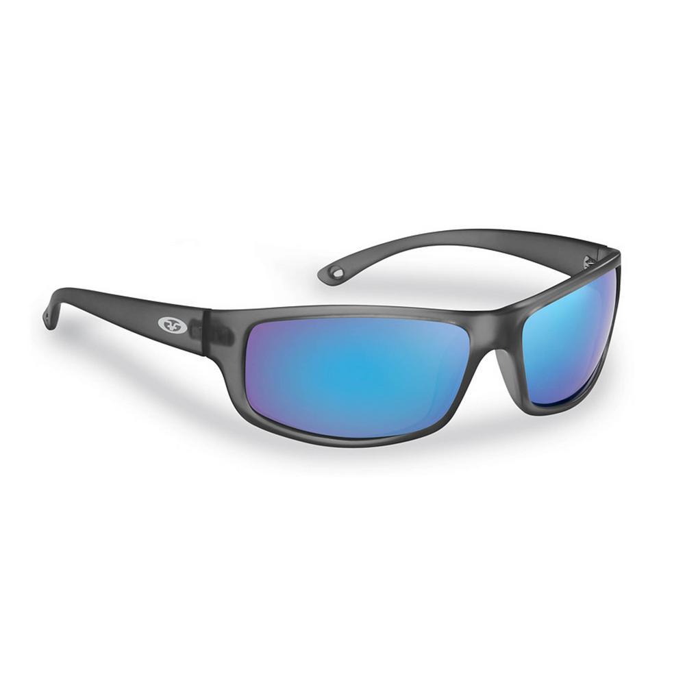 949f0372a4 Flying Fisherman Slack Tide Polarized Sunglasses Granite Frame with Smoke  in Blue Mirror Lens