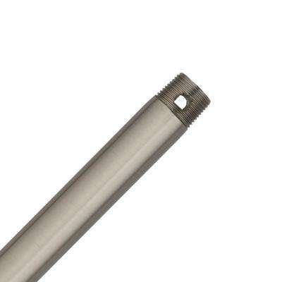 12 in. Brushed Nickel Extension Downrod for 10 ft. ceilings