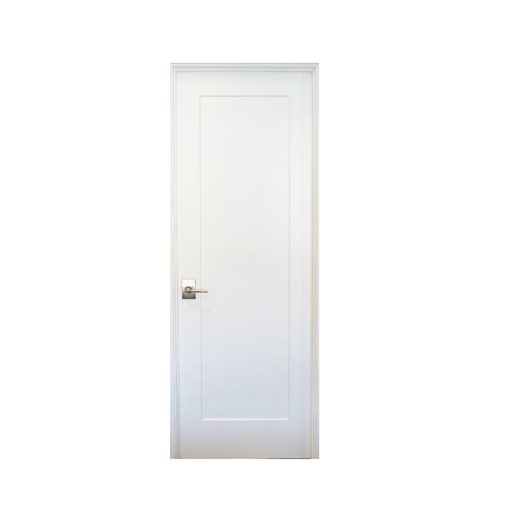 Stile Doors 36 In X 80 In Shaker Primed 1 Panel Right Handed Solid Core Mdf Single Prehung