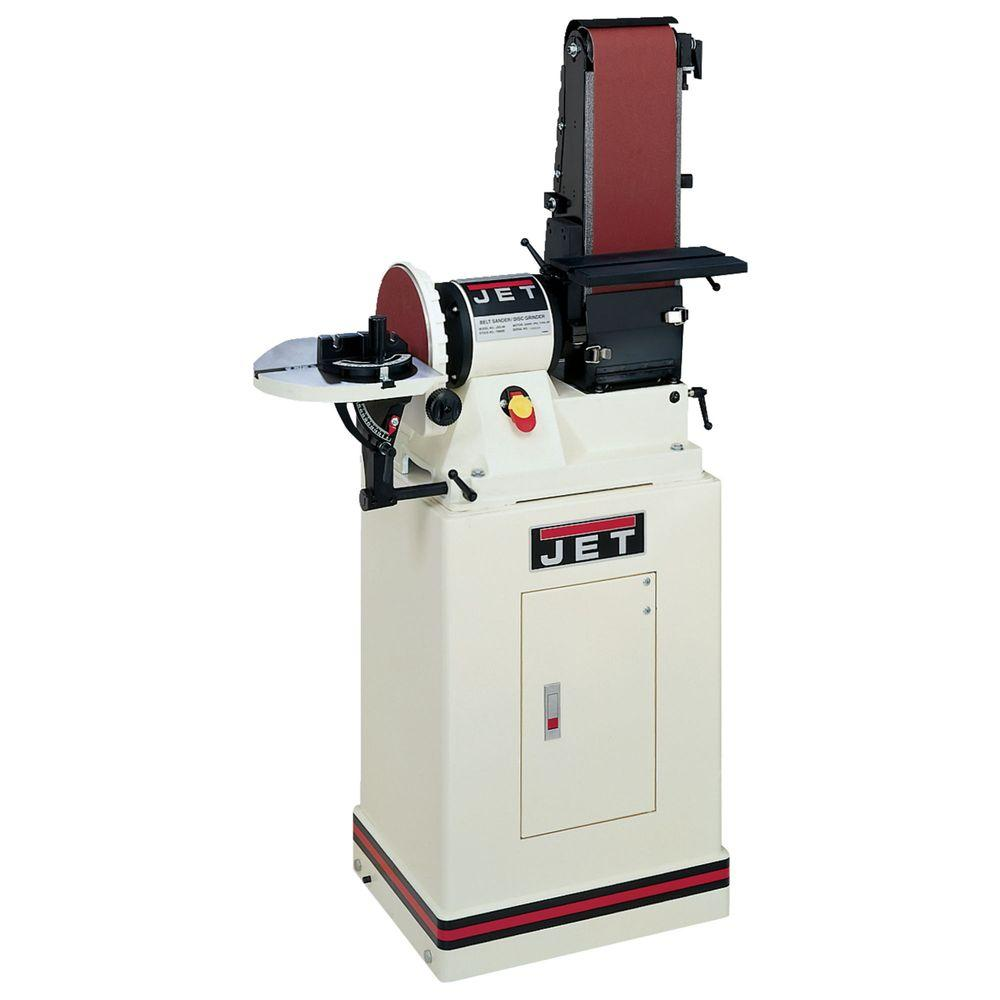 JET 3/4 HP 6 in. x 48 in. Belt and 9 in. Disc Sander with...