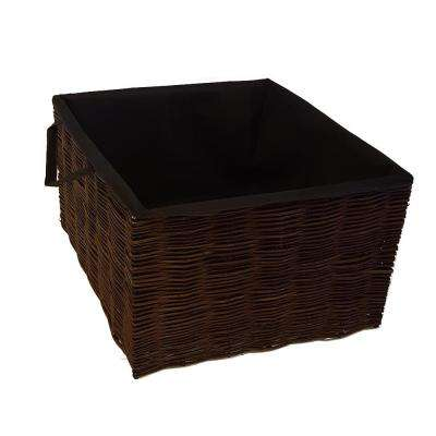 25 in. L 25 in. W 18 in. H Willow Square Planter with Non Woven Grow Bags