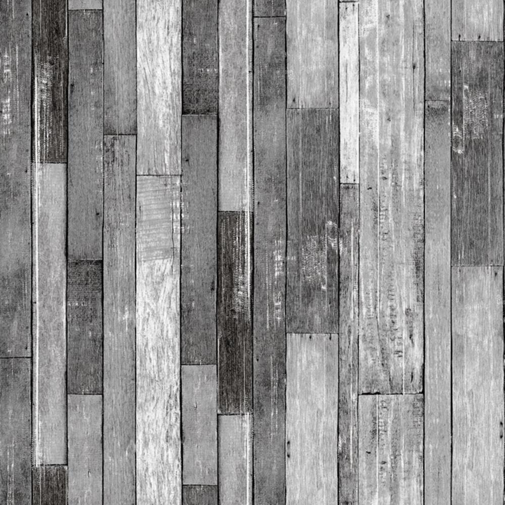 Falkirk Ophia White, Grey Planks Vinyl Peelable Wallpaper (Covers 57 sq. ft.)