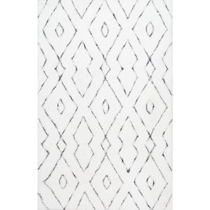 Beaulah Shaggy White 9 ft. x 12 ft. Area Rug