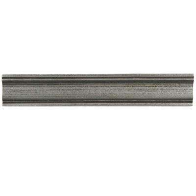 Contempo Piazza Pewter Moldura 2 in. x 12 in. Mixed Material Wall Trim Tile