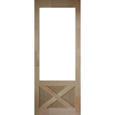 36 in. x 84 in. Thompson Natural Pine Screen Door