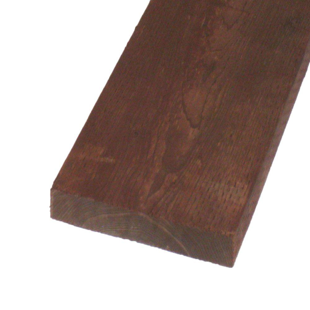 Pressure-Treated Lumber DF Brown Stain (Common: 2 in. x 12 in.