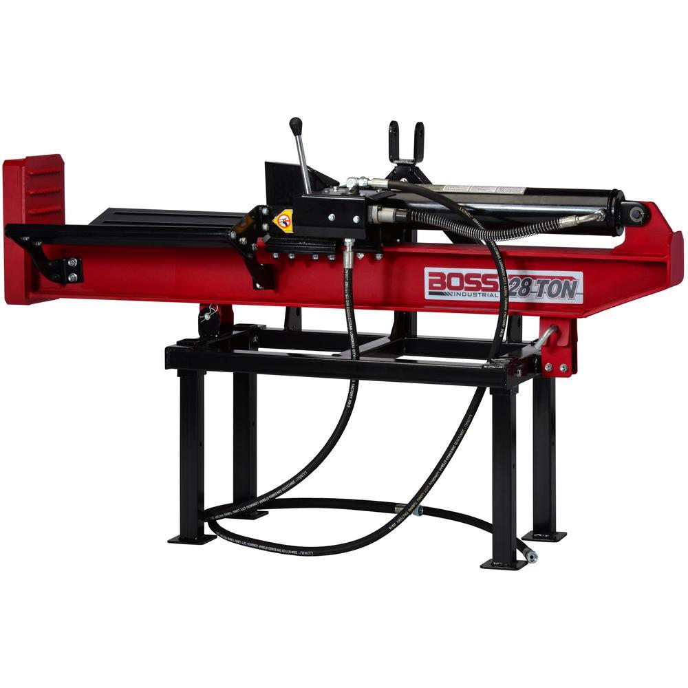 Boss Industrial 28-Ton 3-Point Hitch Horizontal/Vertical Log Splitter Commercial Grade