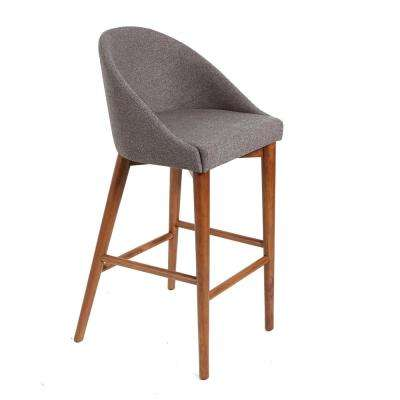 Jermaine 29 in. Gray Mid-Century Bar Stool