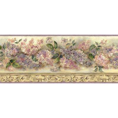 Ethel Heirloom Lilacs Trail Wallpaper Border