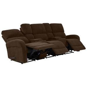Prolounger Chocolate Brown Chenille 3 Seat Recliner Sofa