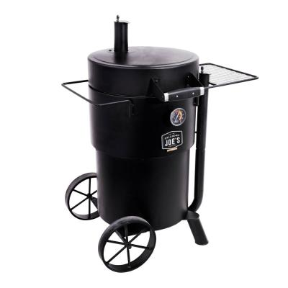 OKLAHOMA JOE'S - Bronco Charcoal Drum Smoker Grill in Black