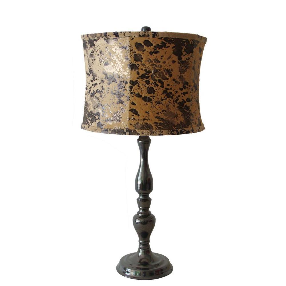 Fangio Lighting 27.5 in. Black Nickel Metal Table Lamp