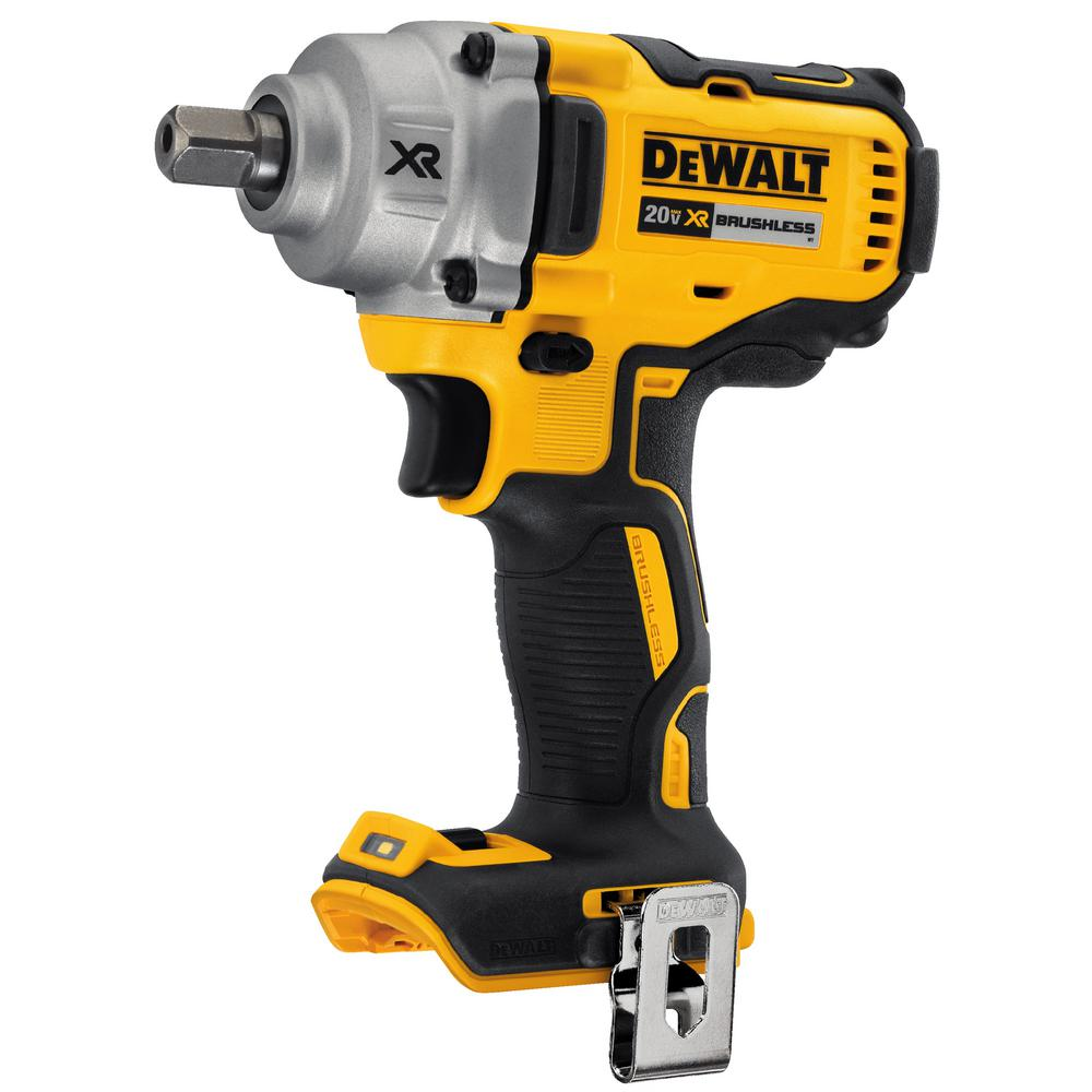 20 Volt Max Xr Lithium Ion Cordless Brushless 1 2 In Impact Wrench With Detent Pin Anvil Tool Only