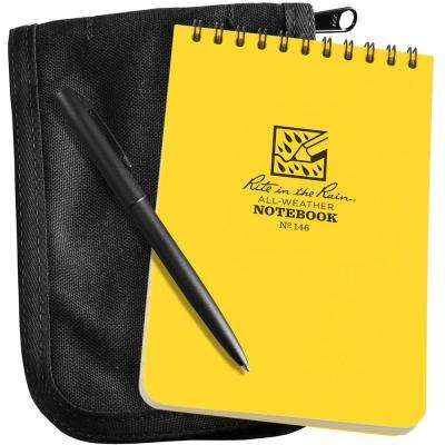 All-Weather 4 in. x 6 in. Top-Spiral Notebook Kit, Black CORDURA Fabric Cover and All-Weather Pen