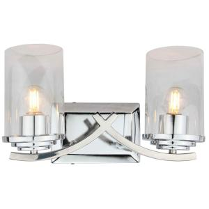 Brina 2-Light Chrome Vanity Lighting