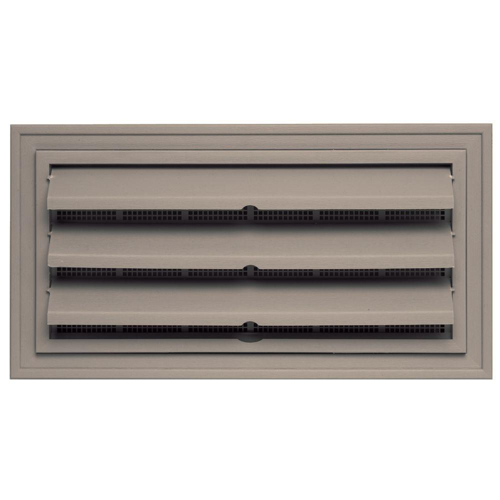 Builders Edge 9.375 in. x 18 in. Foundation Vent with Ring for Remodeling, #008-Clay-DISCONTINUED