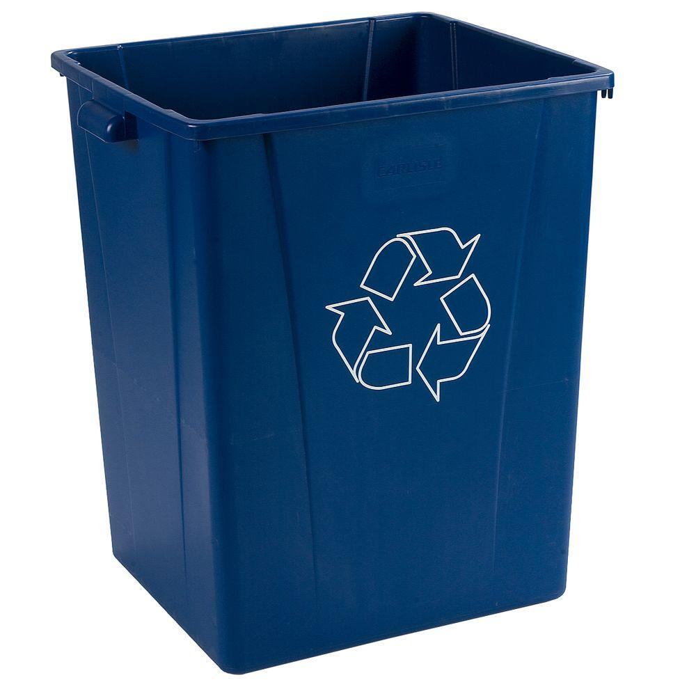 Centurian 50 Gal. Blue Imprinted Recycling Container with Recycling Logo