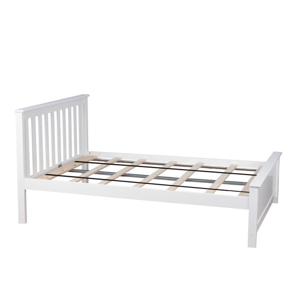 White Full Single Bed