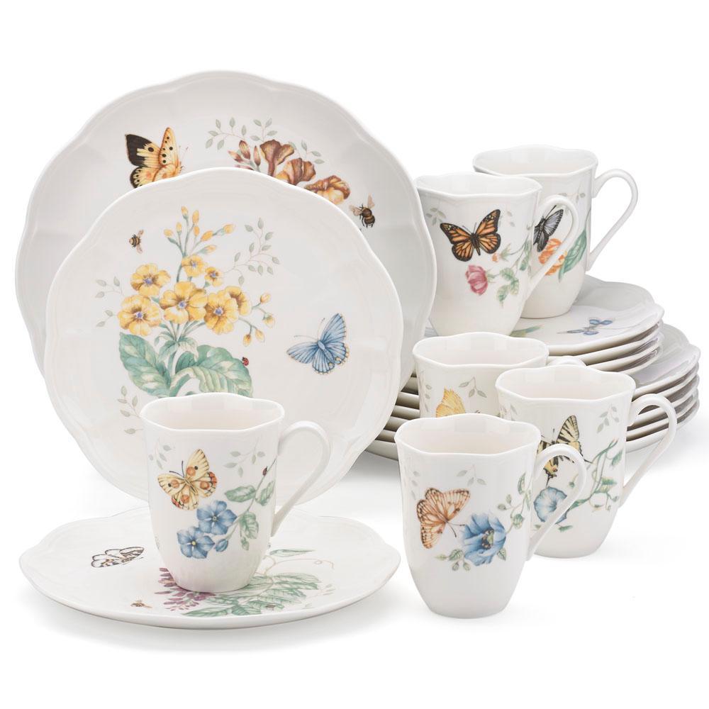 Internet #301161672. Lenox 18-Piece Butterfly Meadow Dinnerware Set  sc 1 st  The Home Depot & Lenox 18-Piece Butterfly Meadow Dinnerware Set-6342794 - The Home Depot