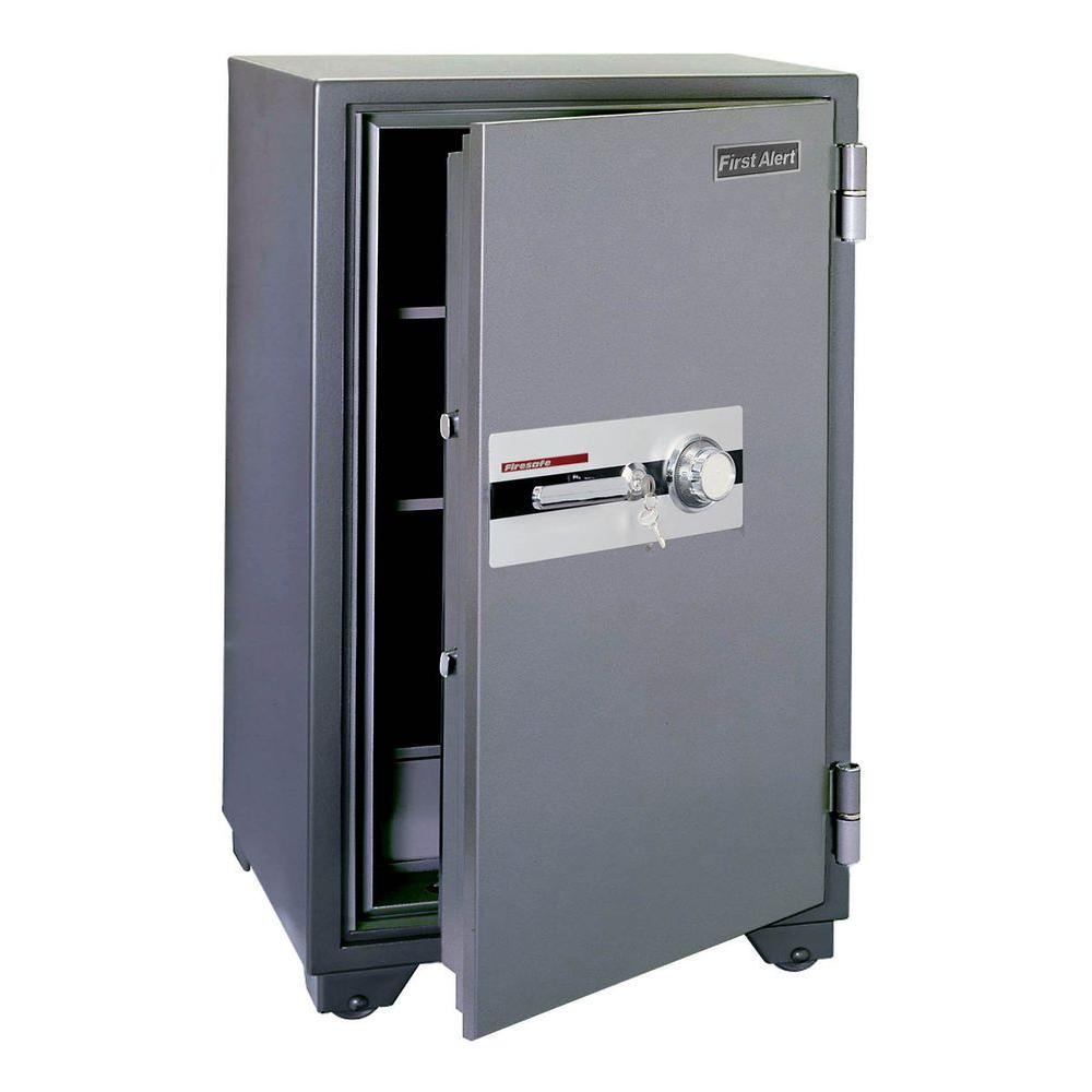 First Alert 5.91 cu. ft. Capacity and Solid Steel Construction Fire Resistant Combination Safe