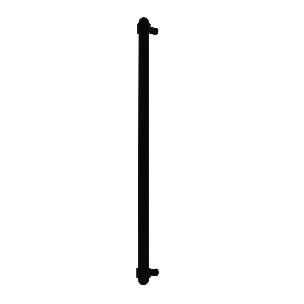 Allied Brass 18 in. Center-to-Center Refrigerator Pull in Matte Black Transform your kitchen with this elegant Refrigerator and Appliance Pull. This pull is designed for replacing the pulls or handles on your built-in refrigerator, freezer or any other built in appliance. Appliance pull is made of solid brass and provided with a lifetime finish to insure products will provide a lifetime of service.