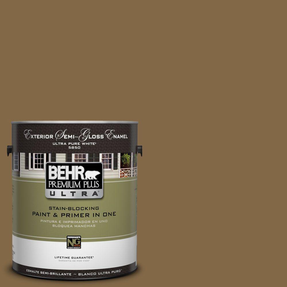 BEHR Premium Plus Ultra 1-Gal. #UL180-26 Bazaar Semi-Gloss Enamel Exterior Paint