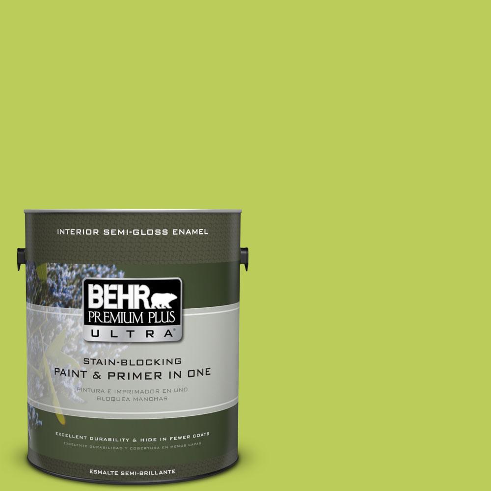 1-gal. #410B-5 Hidden Meadow Semi-Gloss Enamel Interior Paint