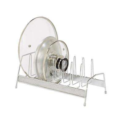 Chrome Lid Organizer in Pave Diamond Design