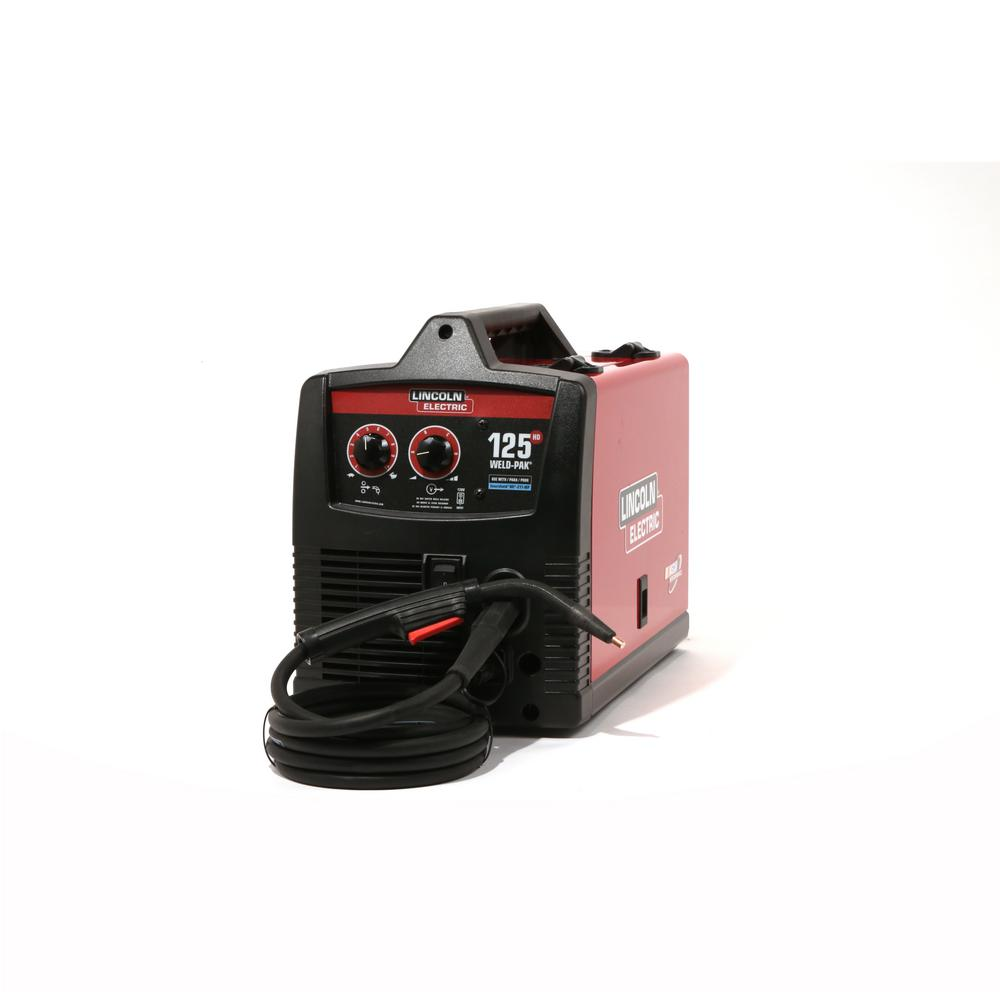lincoln electric 125 amp weld pak 125 hd flux cored welder with