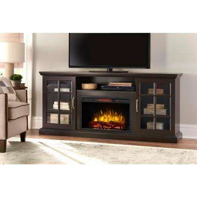 Edenfield 70 in. Freestanding Infrared Electric Fireplace TV Stand in Espresso