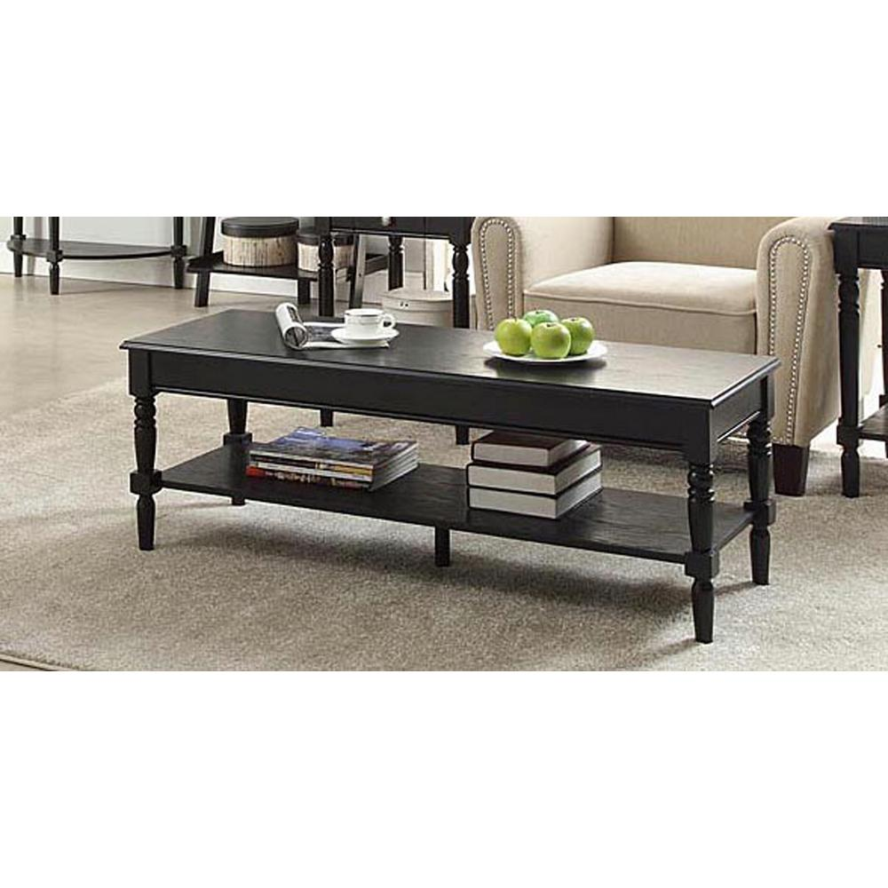 French Country Coffee Table Sets: Convenience Concepts French Country Black Coffee Table