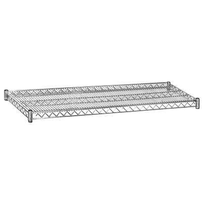 2 in. H x 60 in. W x 18 in. D Shelf Wire Chrome Finish Commercial Shelving Unit