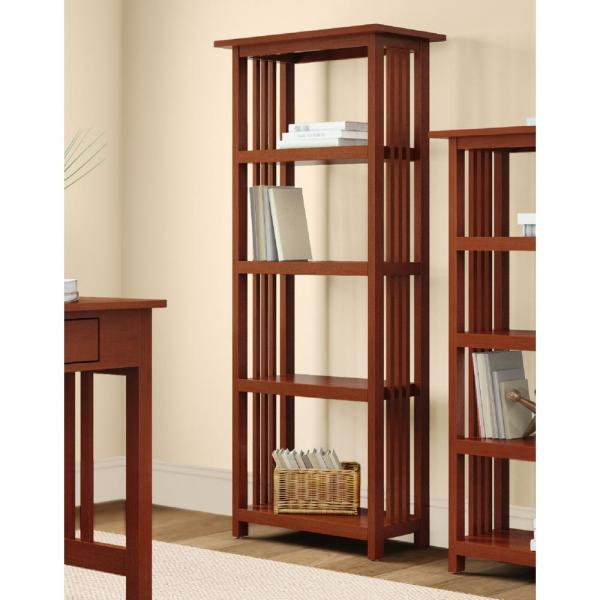 Alaterre Furniture Mission Cherry Open Bookcase