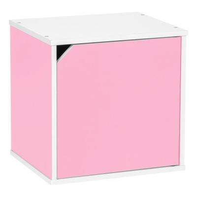 BAKU  Modular Pink Wood Cube Box with Door