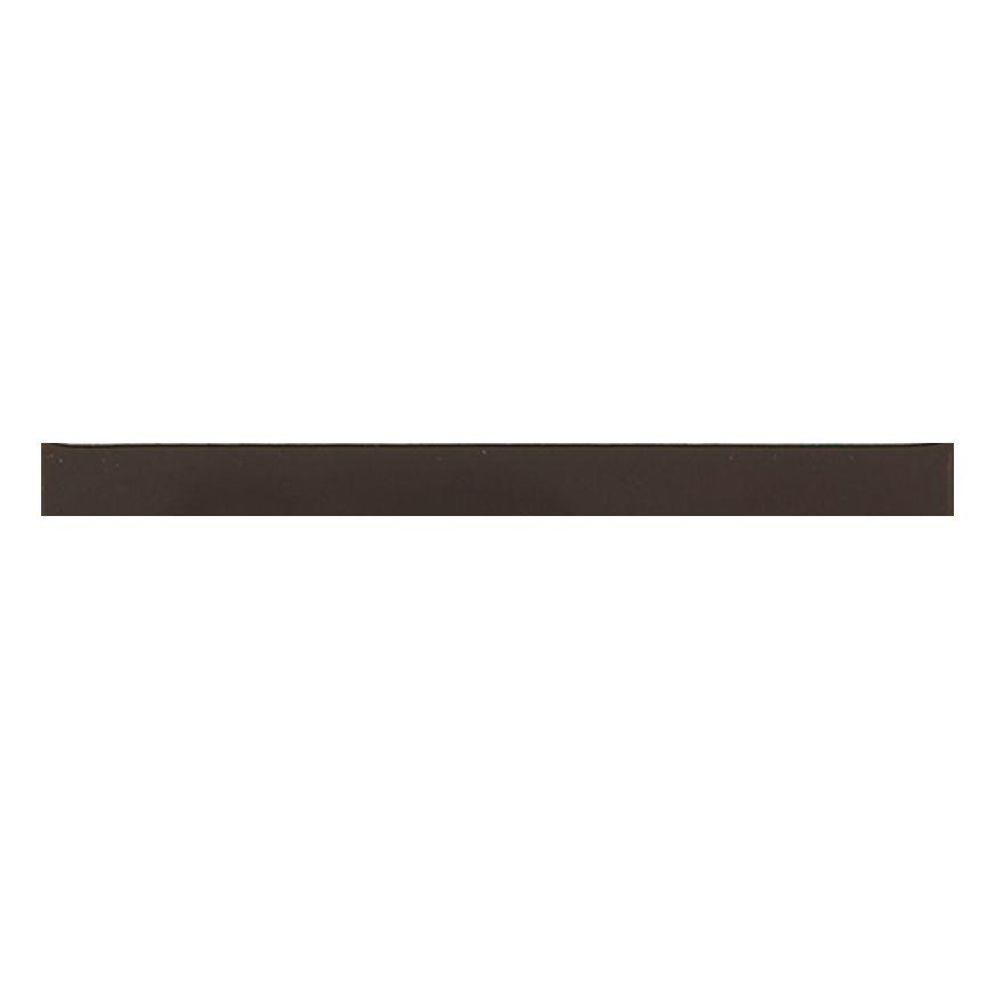 Daltile Liners Cityline Kohl 1/2 in. x 6 in. Ceramic Liner Wall Tile (0.021 sq. ft. / piece) This Daltile Cityline Kohl 1/2 in. x 6 in. Ceramic Liner Wall Tile is constructed from durable ceramic material with a non-vitreous water absorption rating and comes in an attractive color with a glazed finish, a medium sheen and slight variations in tone to provide a stylish aesthetic enhancement for your living space. This corner tile is a suitable choice for installing or renovating an indoor wall or countertop.