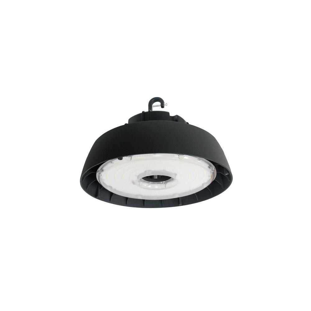 Halco Lighting Technologies 400-Watt Equivalent 150-Watt Black Integrated LED Round High Bay UFO Light Fixture Cool White
