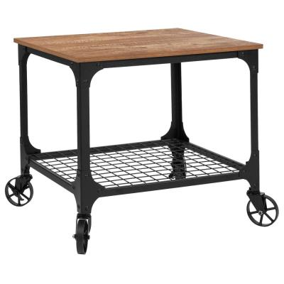 Rustic Bar Cart With Wheels