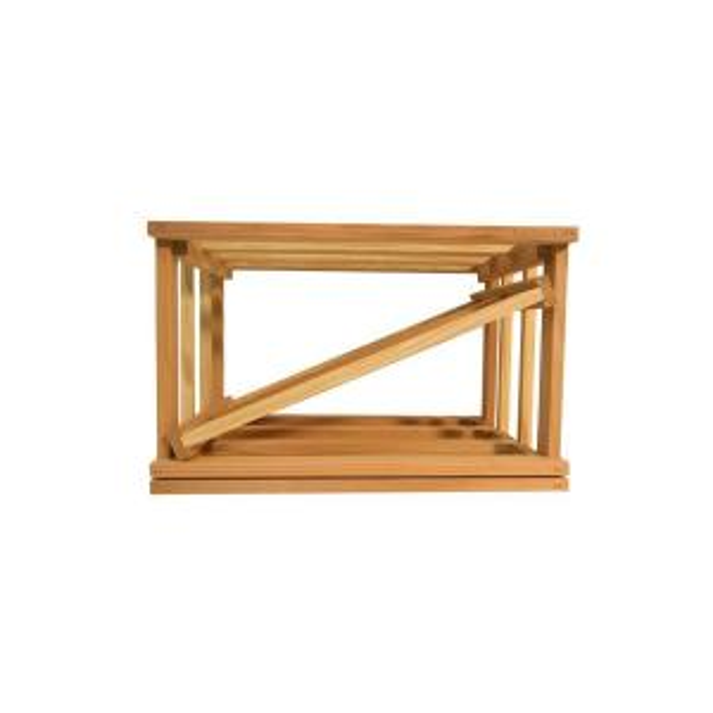 Mini Stack Series-Diamond Slat Unstained Wine Rack 11-15/16 inch H x 18-11/16 inch W x... by
