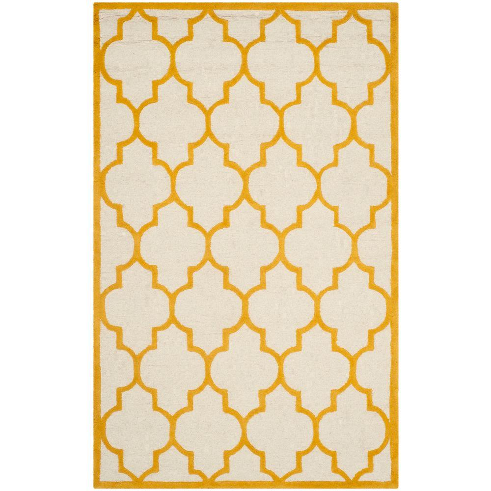 Cambridge Ivory/Gold 4 ft. x 6 ft. Area Rug