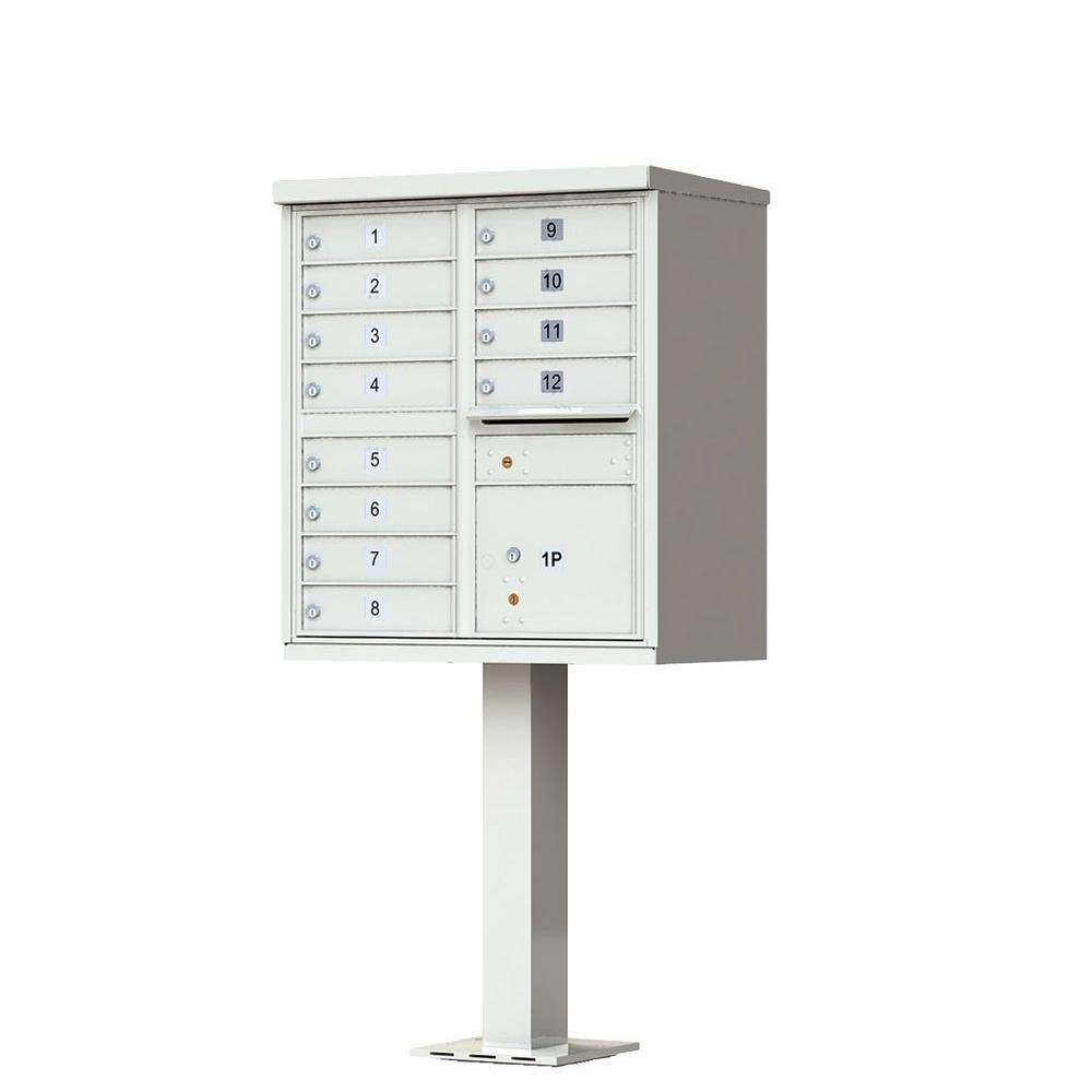 Florence 12-Mailboxes 1-Outgoing Mail Compartment 1-Parcel Locker Cluster Box Unit