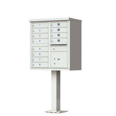 12-Mailboxes 1-Outgoing Mail Compartment 1-Parcel Locker Cluster Box Unit