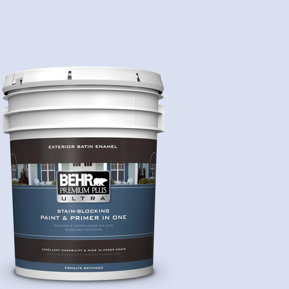 BEHR Premium Plus Ultra 5-gal. #PPL-23 Blooming Aster Satin Enamel Exterior Paint
